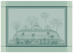 Placemat 40x55 cm 100% cotton green royal greenhouses, anti-tasking