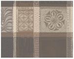 Placemat 41x49 cm 100% cotton tribal brown, beige, cream