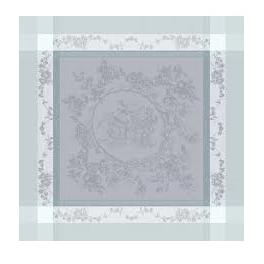 Napkin 53x55 cm medallion of gray flowers 100% cotton 220 gr/m²
