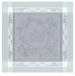 Napkin 53x55 cm medallion of gray flowers 100% cotton 220 gr/m²