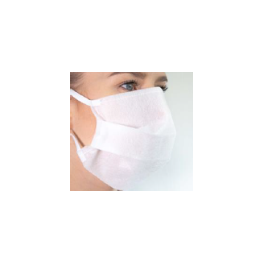 White polyester/cotton 3-layer fabric mask washable 90°C