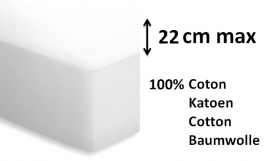 Fitted sheet hotel 100% cotton, 180 gr, washable 95°C, white