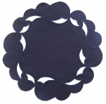 Blue doily galaxy 20 cm diameter round 65% Polyester and 35% Cotton Sander