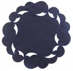 Napperon bleu galaxy 20 cm diametre rond 65% Polyester et 35% coton Sander