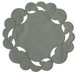 Green doily galaxy 20 cm diameter round 65% Polyester and 35% Cotton Sander