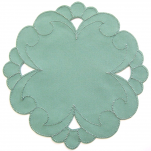 Round doily 20 cm diameter green bernina 100% polyester