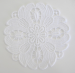 Set of 6 round placemat 7 cm 100% white cotton
