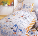 Duvet cover 140X200 + 1 pillowcase nursery rhyme peach molds 100% cotton