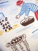 Duvet cover 140X200 + 1 pillowcase nursery rhyme peach molds 100% cotton