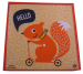 Children's handkerchief 29x29 cm 100% cotton: squirrel