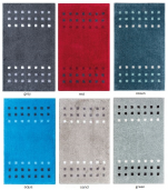 Bathmat small square colors 100% acrylic and non-skid