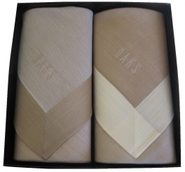 Box of 2 handkerchiefs Man +/- 48x48 cm 100% cotton Daks