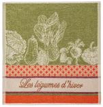 Hand towel 50x50 cm winter vegetables 100% cotton jacquard
