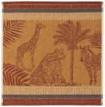 Hand towel 50x50 cm Zebra, Leopard, Giraffe 100% cotton jacquard