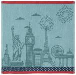 Hand towel 50x50 cm Monuments 100% cotton jacquard