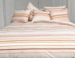 Duvet cover + pillowcase 65x65 cm multi orange lined 100% cotton