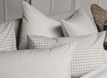 Duvet cover + pillowcases 65x65 cm vichy beige 100% cotton percale