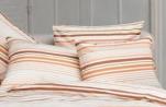 Pillowcase 65x65 cm multi orange lined 100% cotton