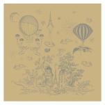 Napkin 54x54 cm Hot air balloon trips 100% cotton