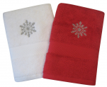 Guest towel 40x70 cm 100% combed terry cotton Snowflake embroider