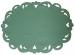 Oval doily 35X49 cm green Bernina 100% polyester