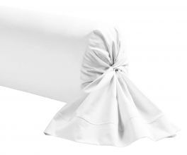 White Bolster case 100% cotton percale easy care