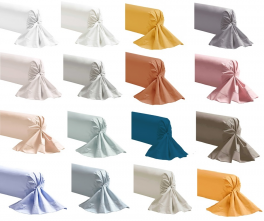 White Bolster case 100% cotton percale colors easy care