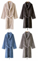 XXL Sjaalkraag badjas 100% cotton terry - 100% polyester microfibre soft