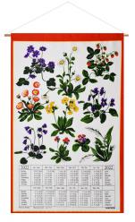 Calendar Kreier 2022 Spring Flowers, pure linen, 69 x 41 cm