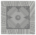 Napkin 50x50 cm Gray Indian decoration 100% cotton jacquard