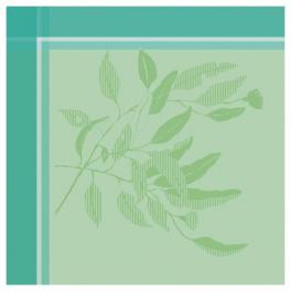 Napkin 54x54 cm  Green leaves, 100% jacquard cotton