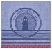 Hand towel 50x50 cm Blue lighthouse 100% cotton jacquard