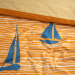 Duvet cover + pillowcase 60x70 orange sailboat 100% percaline cotton