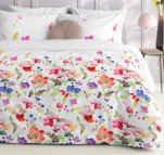 Duvet cover + pillowcase 60x70 watercolors 100% percaline cotton