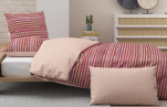 Duvet cover + pillowcase 65x65 cm 100% cotton percale Inca easy care
