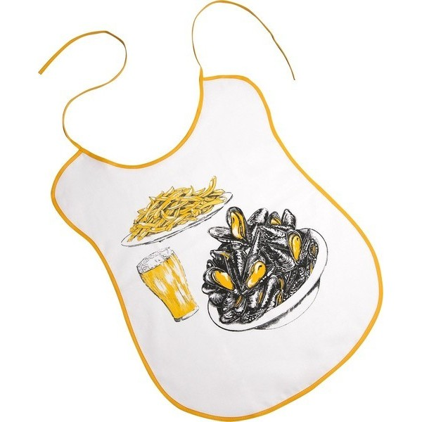 Bib Mussels French Fries Beer 100 Cotton 59x37