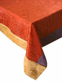 Crumpled tablecloth 100% polyester 160x300 cm Marmara