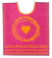 Bib 33x40 cm100% cotton pink and orange heart