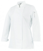 Ladies Jacket kitchen white UNA. long sleeves polycotton