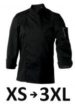 Jacket Mixed kitchen black NER. long sleeves polycotton