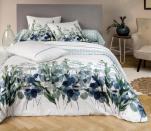 Duvet cover + pillowcase eucalyptus 100% printed cotton percale
