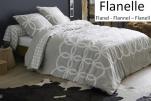 Duvet cover + pillowcase 65x65 cm interlaced circles 100% cotton flannel