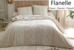Duvet cover + pillowcase 65x65 cm floral ropes 100% cotton flannel