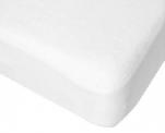 Protège-matelas hauteur 40cm éponge 100% coton, envers polyuréthane respirant