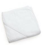 Cape de bain ou Sortie de bain 80x80 cm éponge 100% coton blanc