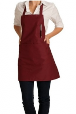 Apron bib height 70 cm 65/35 polycotton 3 pockets + 1 pocket pencils 245 gr/m²