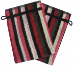 Washcloth 14x21 cm Nik 100% cotton with multicolored stripes: pink ...