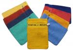 Mitt Tintin and Snowy 100% towelling cotton 14x21 cm