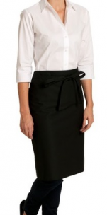 Black bistro apron polycotton 65/35 height 70cm width 95cm without pockets
