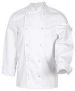 Veste de cuisine blanc Mel Mixte polycoton manches longues